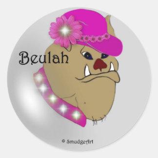 Beulah Round Sticker