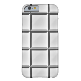 Beveled Square Black and White Pattern Iphone Case Barely There iPhone 6 Case