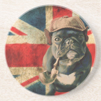 Beverage Coaster with French Bulldog
