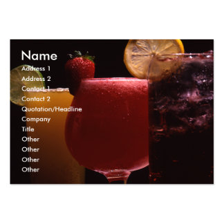 Beverages 1 Card Large Business Cards (Pack Of 100)