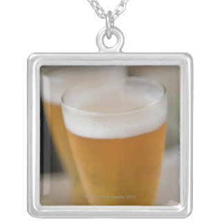 beverages cocktails drinks silver plated necklace