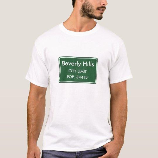 Beverly Hills California City Limit Sign T-Shirt