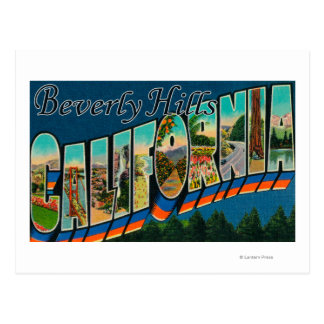 Beverly Hills California - Large Letter Scenes Postcard