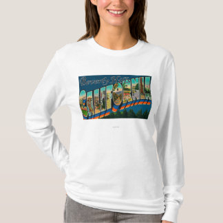Beverly Hills, California - Large Letter Scenes T-Shirt