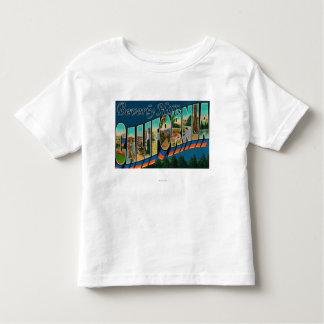 Beverly Hills, California - Large Letter Scenes Toddler T-Shirt