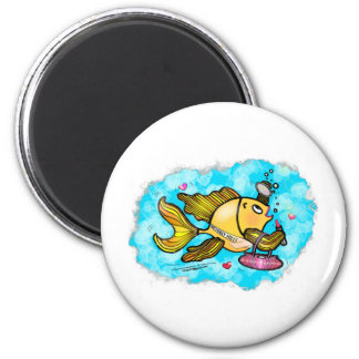 Beverly Hills Housewife Fish cute funny comics 6 Cm Round Magnet