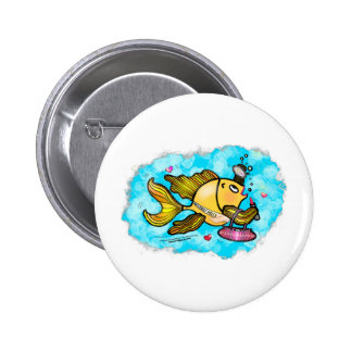 Beverly Hills Housewife Fish cute funny comics 6 Cm Round Badge