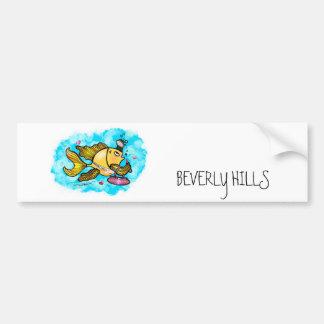 Beverly Hills Housewife Fish cute funny comics Bumper Sticker