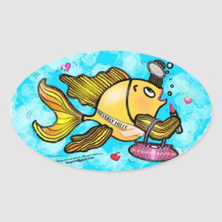 Beverly Hills Housewife Fish cute funny comics Stickers