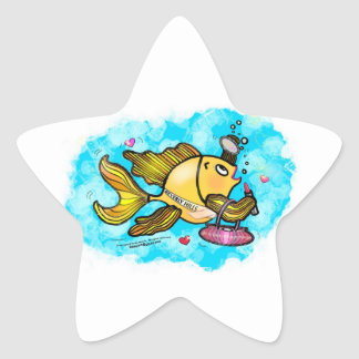 Beverly Hills Housewife Fish cute funny comics Star Sticker