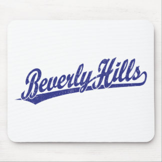 Beverly Hills script logo in blue Mouse Pad
