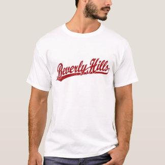 Beverly Hills script logo in red T-Shirt