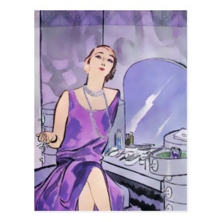 Beverly s Boudoir 1920s Fashion in Purple Post Cards