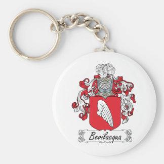 Bevilacqua Family Crest Basic Round Button Key Ring