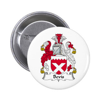 Bevis Family Crest 6 Cm Round Badge
