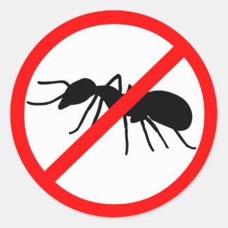 Beware, ants! classic round sticker