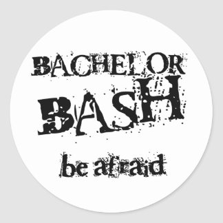 Beware Bachelor Bash Round Sticker