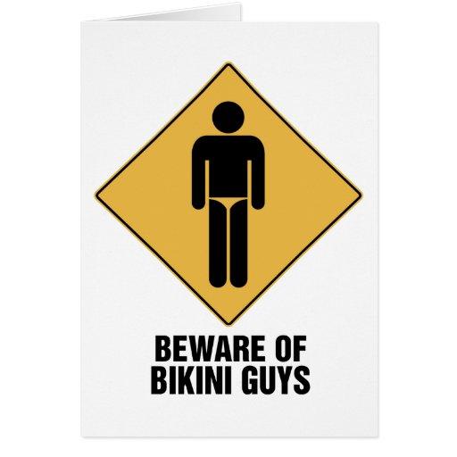 Beware Bikini Guys Card