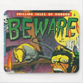Beware comic book mouse mat