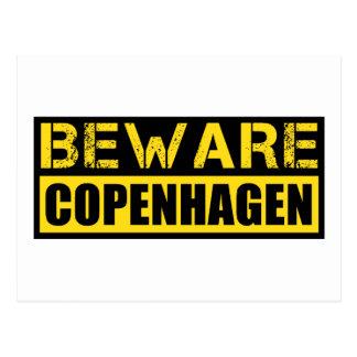 Beware Copenhagen Postcard