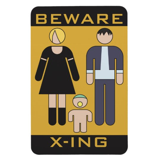 Beware Demons Rectangular Photo Magnet