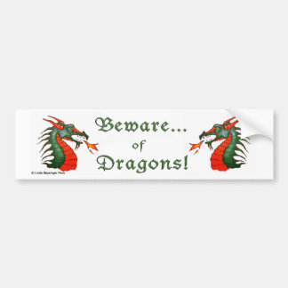 Beware Dragons Bumper Sticker
