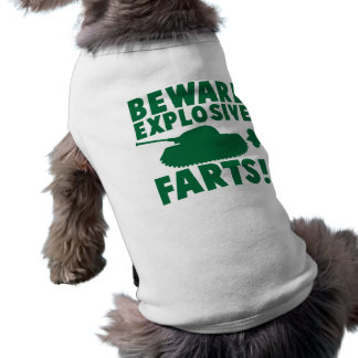 Beware EXPLOSIVE FARTS! Sleeveless Dog Shirt