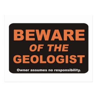 Beware / Geologist Postcard
