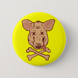 Beware h1n1 6 cm round badge