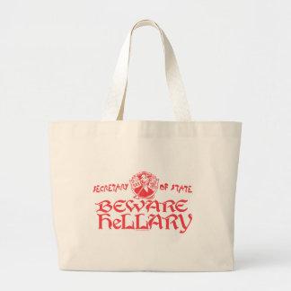 Beware Hillary SOS Gear Jumbo Tote Bag