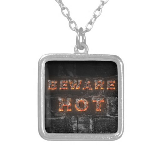 Beware hot text with firestone letters jewelry