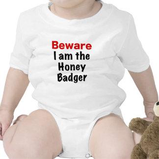Beware I am the Honey Badger Baby Creeper