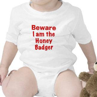 Beware I am the Honey Badger Romper