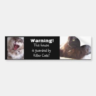 Beware-Killer Cats Bumper Sticker