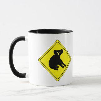 Beware Koalas, Traffic Warning Sign, Australia Mug
