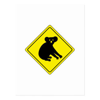 Beware Koalas, Traffic Warning Sign, Australia Postcard