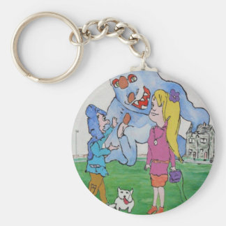 Beware Of A Girlfriend's Dad Basic Round Button Key Ring
