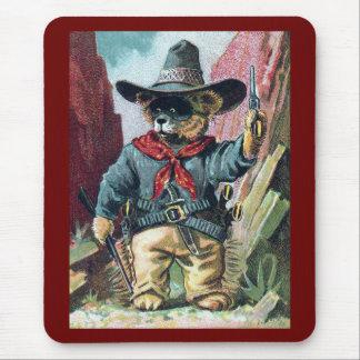 Beware of Bandit Bear with Bandana Mouse Pad