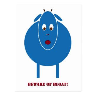 Beware of Bloat Postcard