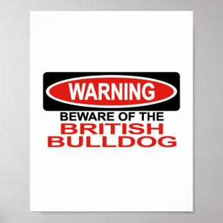 Beware Of British Bulldog Posters
