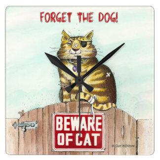 Beware of Cat Wallclock