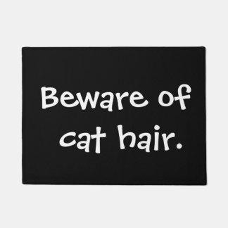 Beware of cat hair doormat