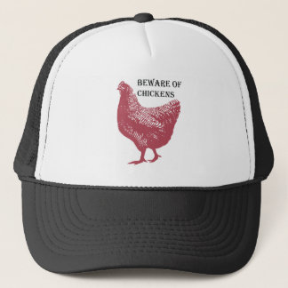 Beware Of Chickens Trucker Hat