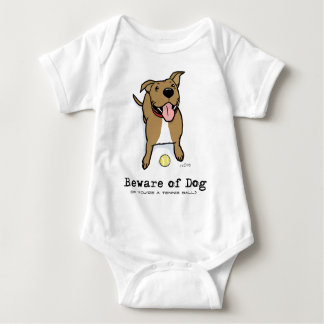 Beware of Dog (if you're a tennis ball) Baby Bodysuit