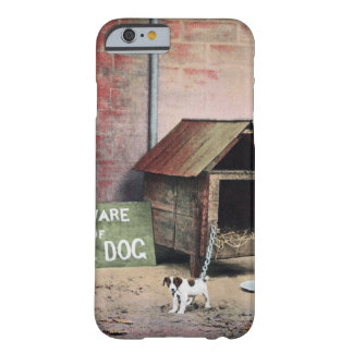 Beware of dog sign with small dog barely there iPhone 6 case