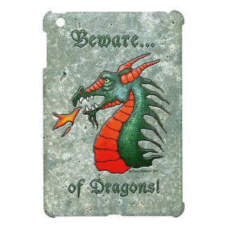 Beware of Dragons Faux Stone iPad Mini Cases