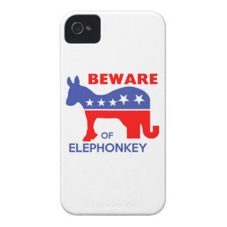BEWARE OF ELEPHONKEY - activism/libertarian/usa iPhone 4 Cases