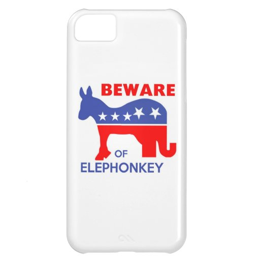 BEWARE OF ELEPHONKEY - activism/libertarian/usa iPhone 5C Cases