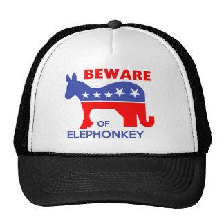 BEWARE OF ELEPHONKEY - activism/libertarian/usa Trucker Hats
