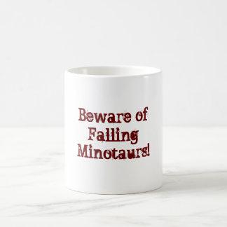 Beware of Falling Minotaurs! Basic White Mug